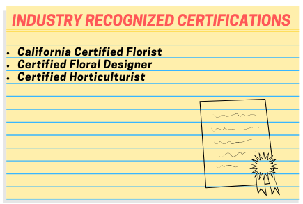 Ornamental Horticulture Industry Recognized Certifications